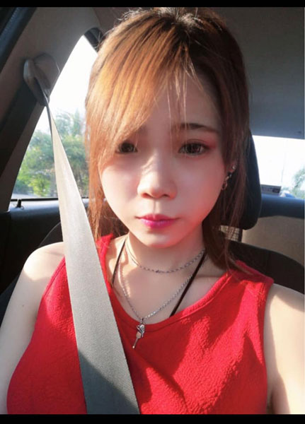 飞赴台湾寻找网友后,与家人朋友失联的女子张米雪。