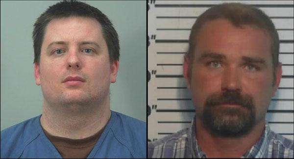 布莱恩(左)和女孩继父(右),分别因绑架和性剥削及强奸罪被捕。