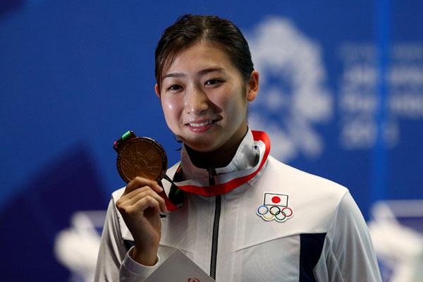 池江璃花子在印尼亞運會勇奪6金。(路透社檔案圖片)