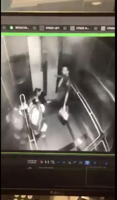 女子试图站起来呼救,匪徒竟起脚踢向女子的肚子,十分凶残!