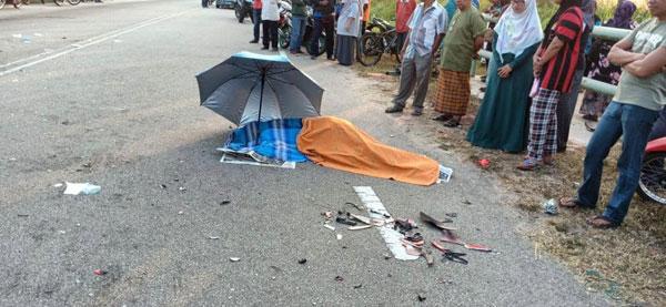 15岁中学生莫哈末沙奇遇车祸,当场丧命。