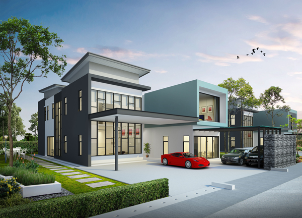 Sierra Elite双层豪华别墅外观设计简约大气,附设的小套房,让 主人家可以随时接待宾客。