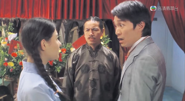 田鸡(中)和星爷在《喜剧之王》里合作无间。
