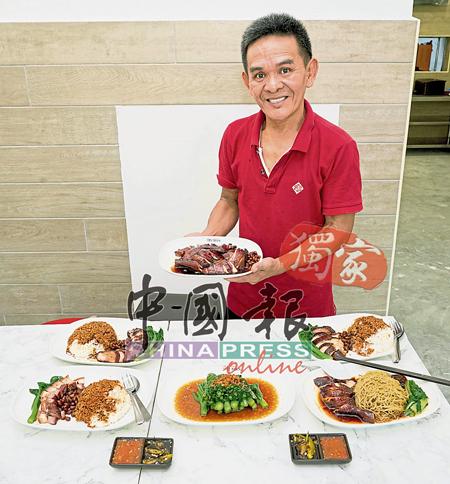 """陈翰铭希望""""了凡油鸡饭.面""""的油鸡烹调法、口感及味道,可为怡保市民带来不同的饮食体验。"""