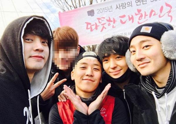 郑俊英(左起)、胜利、崔钟训、ROY KIM因时常玩在一起,被指是淫片群组成员。