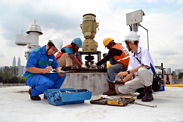英达丽水公司的员工将定期维修及检查所有污水系统。