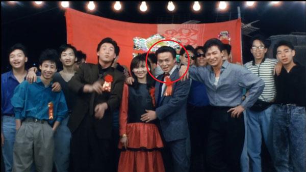 """黄斌在《旺角卡门》中演""""乌蝇""""张学友的手下""""阿西""""。"""