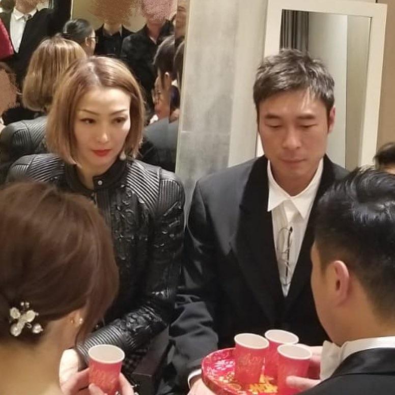 鄭秀文和許志安上月一起出席友人的婚禮。