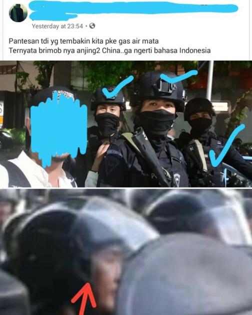 网传有来自中国的军警,向示威群众开枪。
