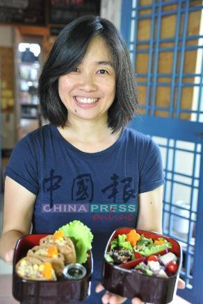 郭添爱擅长以黄帝内经的理论为基础,日式调味料和日式烹调方法,融合本地食材来烹调健康养生便当。