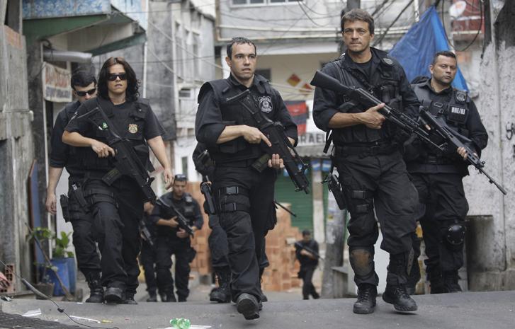 巴西警察巡逻。(资料图)