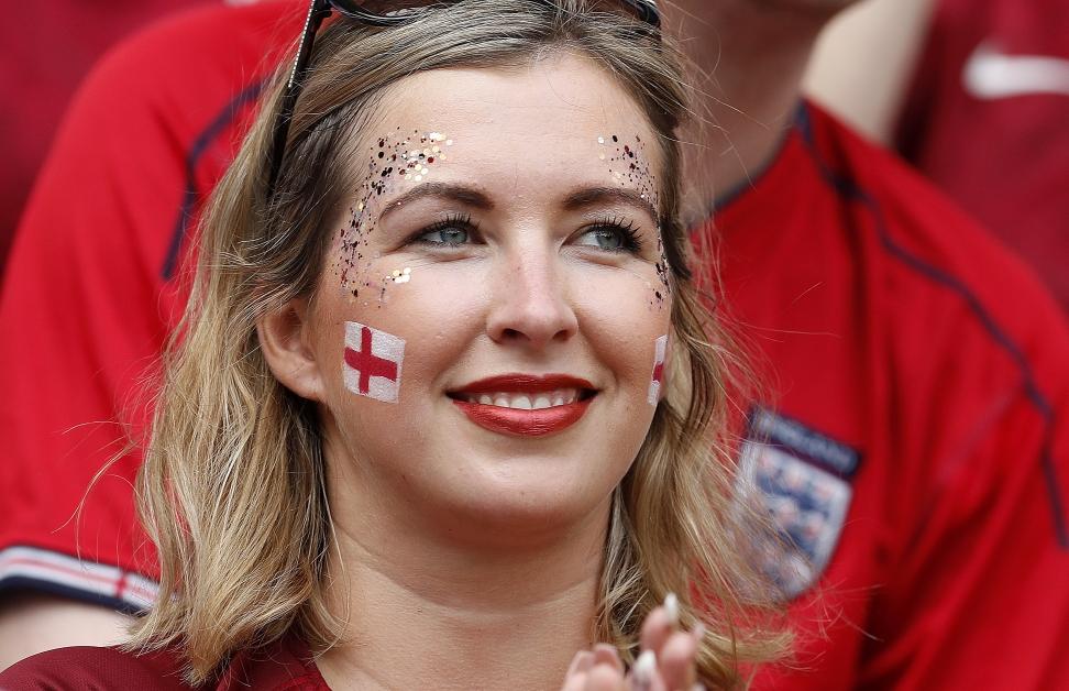 英格兰球迷。(欧新社)