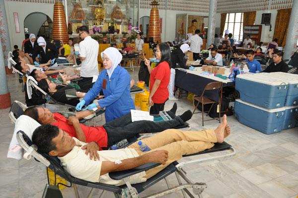"""马佛总森州分会举办""""第69届捐血运动"""",获得国家血库中心配合。"""