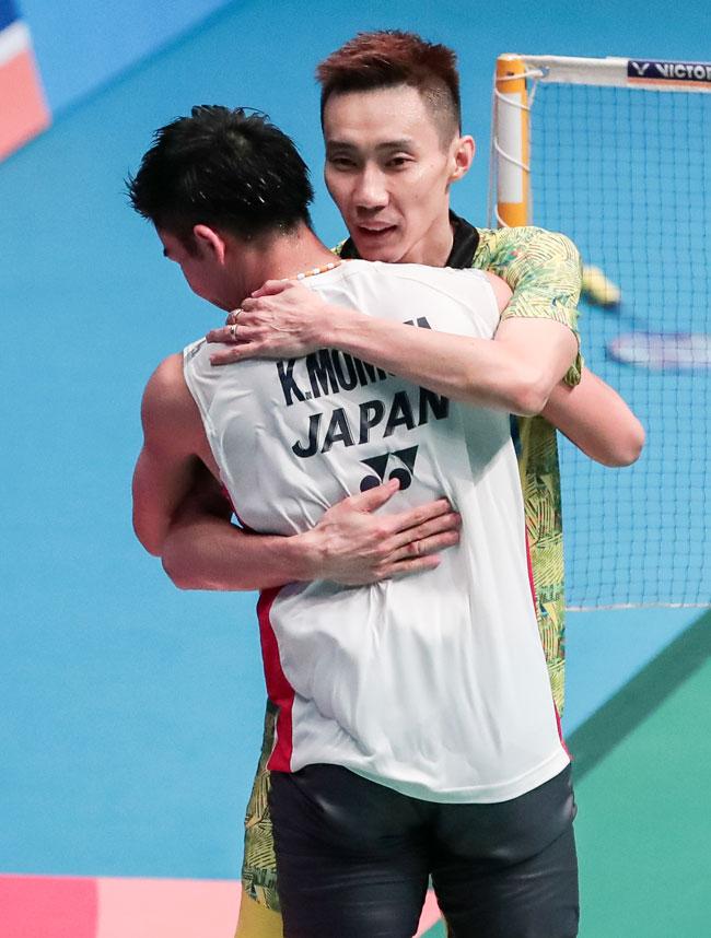 李宗伟职业生涯的赢和输,对手都是桃田贤斗。(档案图片)