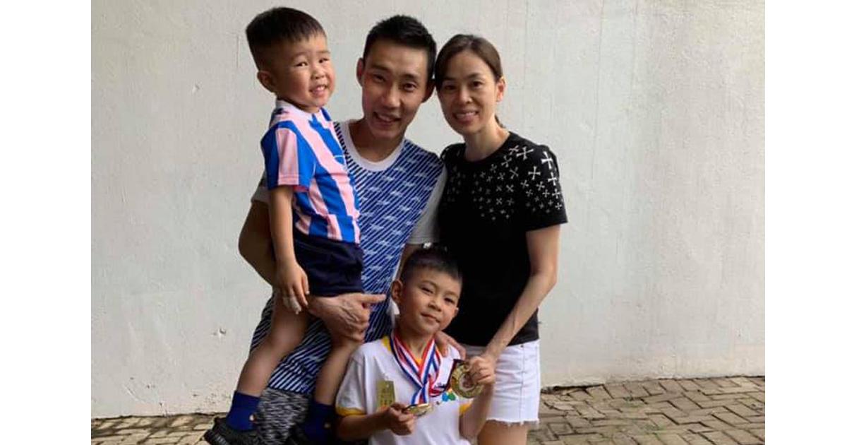 爱妻黄妙珠、儿子嘉谦(Kingston)和凯杰(Terrance),都在背后默默支持李宗伟。(档案图片)