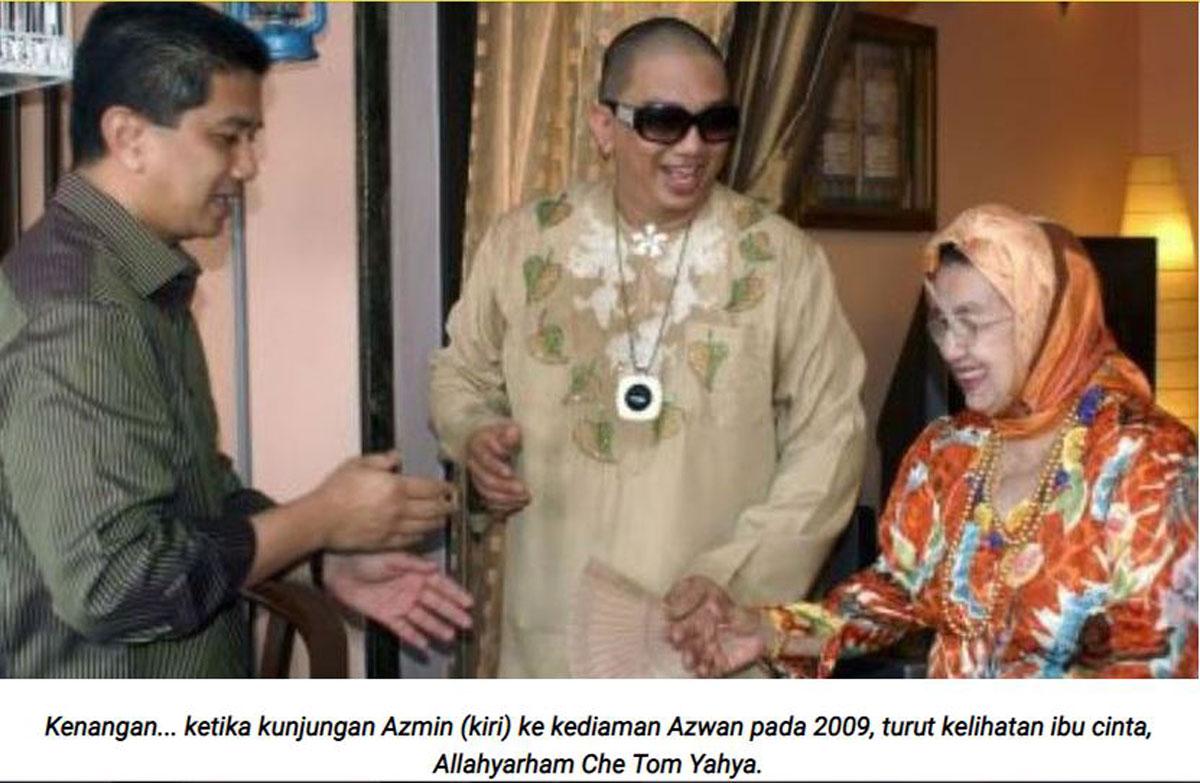 2009年,阿兹万(中)在家接待阿兹敏到访(左),当时他们的母亲哲东雅哈亚仍健在。(截自mStar)