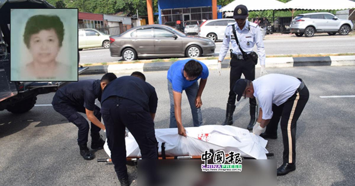 警方将死者遗体送往文冬中央医院太平间进行解剖,了解死因。小图为李翠琼遗照。