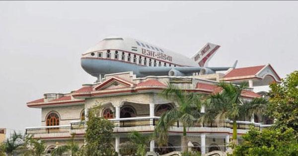 """印度富豪村  每栋豪宅楼顶停""""私人飞机"""""""