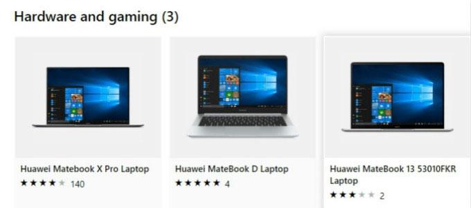 华为笔电重返微软网路商城。(微软网络商城。)