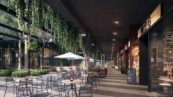 GrenePark Village室外餐饮区,如置身大自然般的环境内用餐。