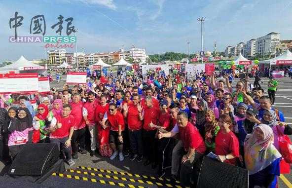 永旺基金会在汝来永旺广场主办的慈善义跑及踏脚车活动,共有847人参与,场面热闹。