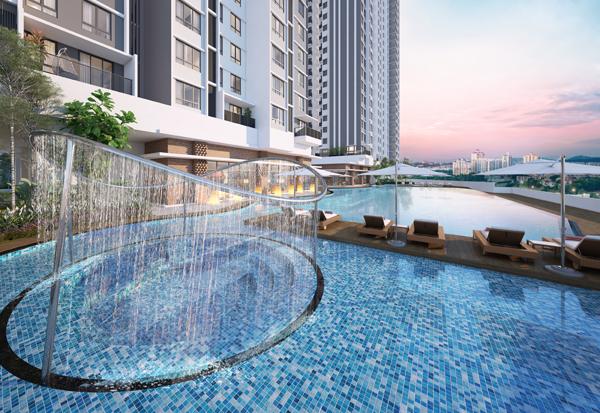 有如度假酒店般的嬉水池和泳池,是有多诱人啊!
