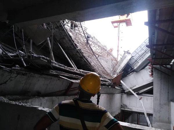 走廊混凝土浇筑工程出意外 发展商保证大楼安全