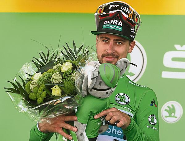 彼得萨甘夺得生涯第12个环法赛段冠军。(法新社)