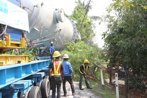 阻挡巨无霸去路的树木必须被砍除。