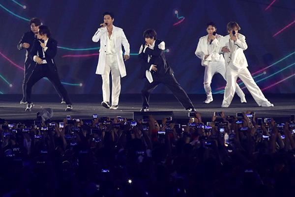 Super Junior是第一个到沙地阿拉开唱的韩团。(图/互联网)