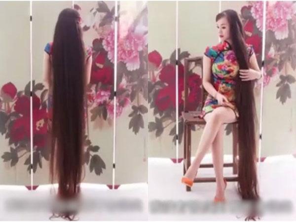 樊高妃留2.5公尺长发。