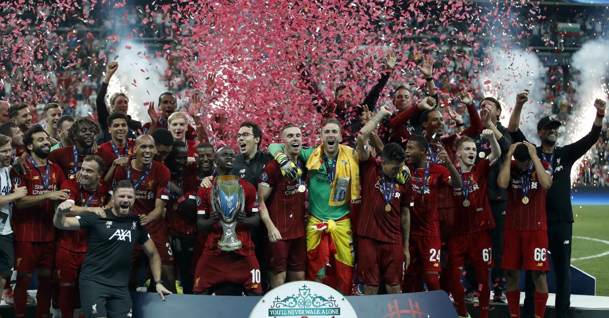 利物浦夺得欧洲超级杯冠军。(美联社)