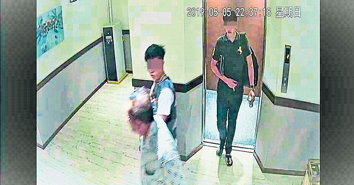 沈福财与2名青年曾在5月5日,入住实兆远一家酒店。