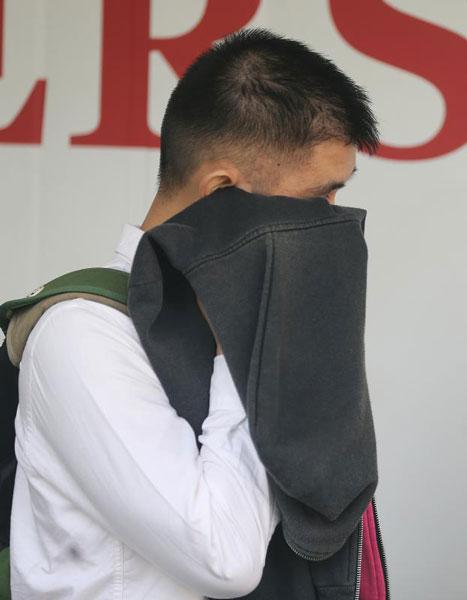 谭志文被判罚款3500元。(海峡时报)