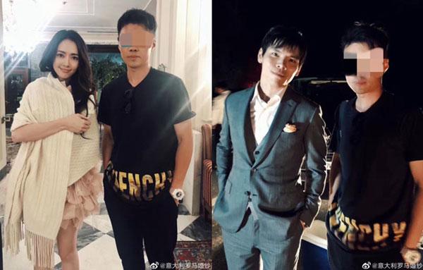 网上流出向佐与郭碧婷拍婚纱时与工作人员的合照。