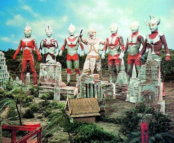 《咸蛋超人》故事中,有一段代表泰国神猴参战的画面。