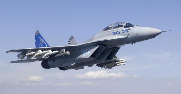 """俄罗斯向我国推销的""""米格-35""""战机。"""
