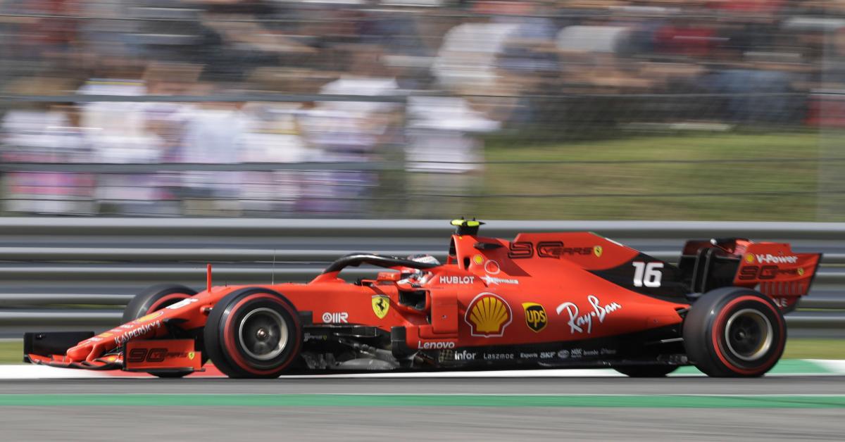 法拉利车手勒克莱尔夺下意大利F1的杆位。(美联社)
