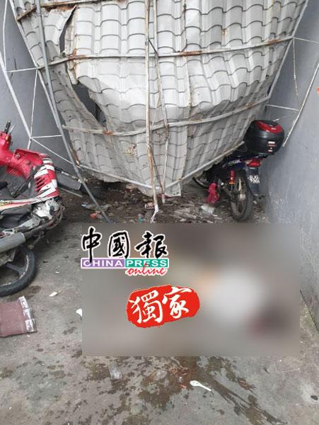死者从10楼的楼梯口跃下,头部受重创后当场毙命。