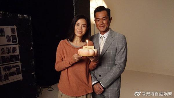 古天乐早前为宣萱庆祝49岁生日。