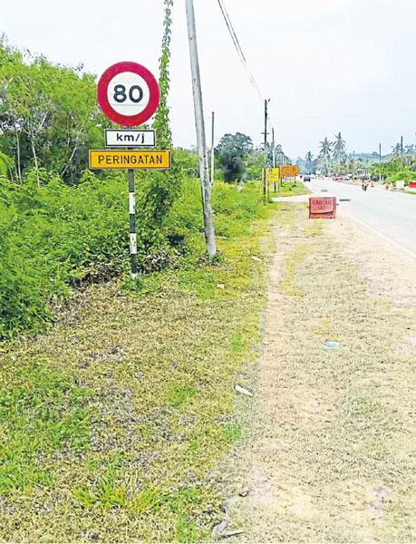 马口阿逸依淡新村的时速80公里,村民投诉太快,威胁村民和学生出入的安全。