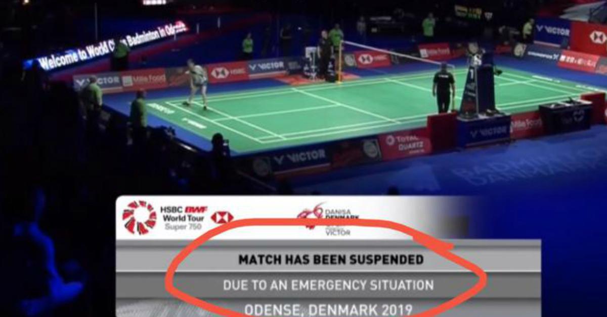 丹麦羽球公开赛的女双决赛两度被中断。(网络图)