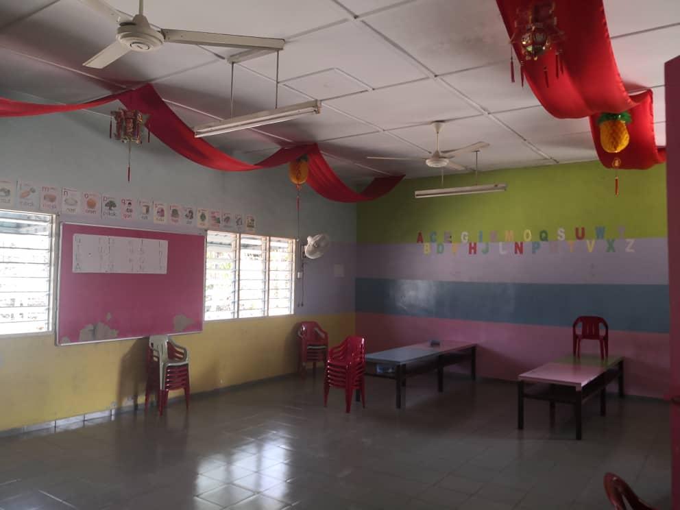 重新粉刷后,明加叻幼稚园焕然一新。