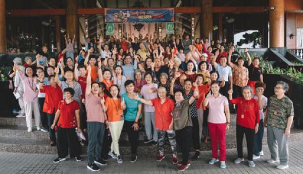海外党部的党员到马六甲参与活动。
