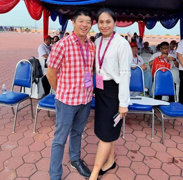 杨全佑(左)为人低调,一直默默地守护温蒂(右)。