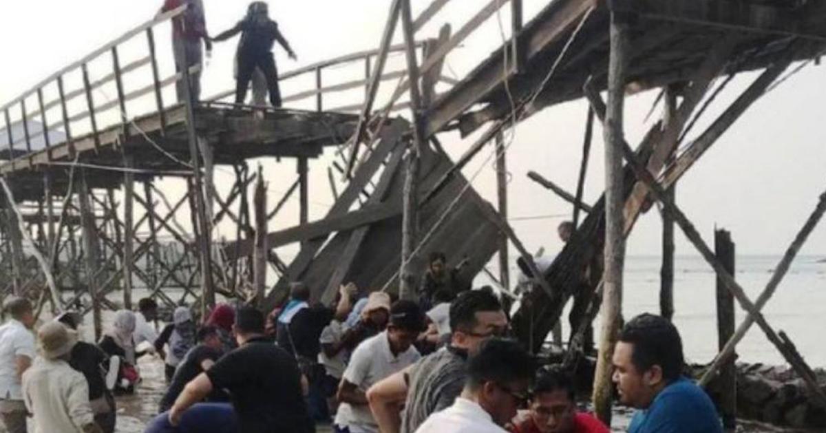 农萨梦帝国度假村一座木桥坍塌,多名新加坡人受伤。