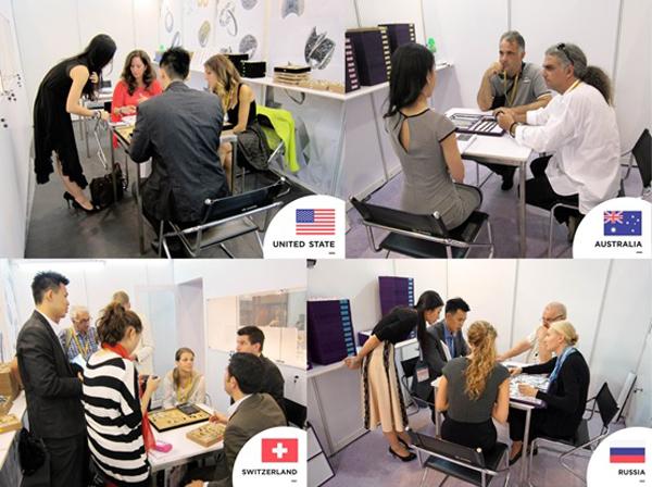 独家的设计,国际高质量和诚恳的交易态度,吸引了全球大公司的青睐。图上来自各国爆满的预约会议,络绎不绝。