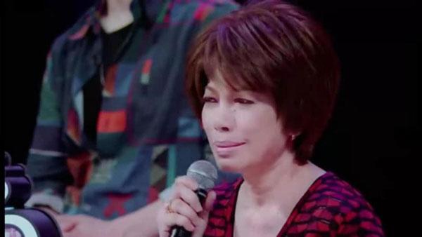 蔡琴在节目中哽咽落泪。