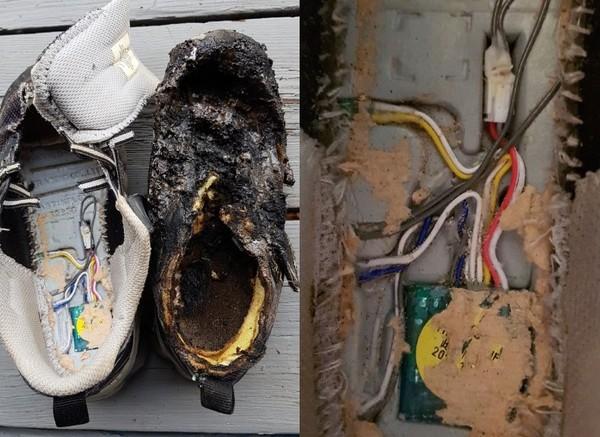 儿子的发光鞋,竟然有可能是造成火灾的原因。