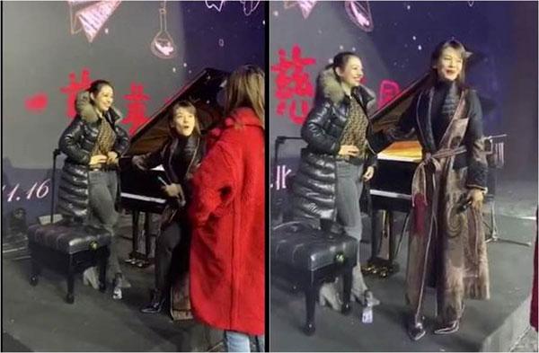 刘涛伸手量了量吉娜爱丽丝的腰围。